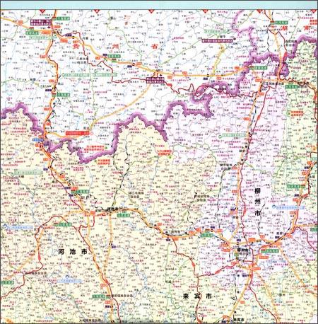分省交通旅游系列:广西壮族自治区交通旅游图
