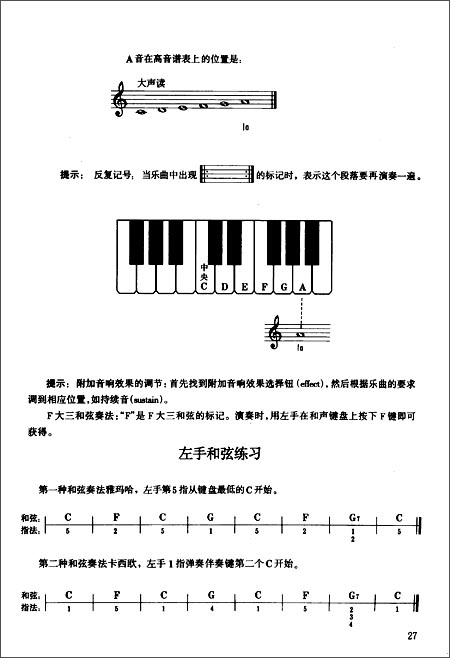 儿童电子琴基础教程 孙伟