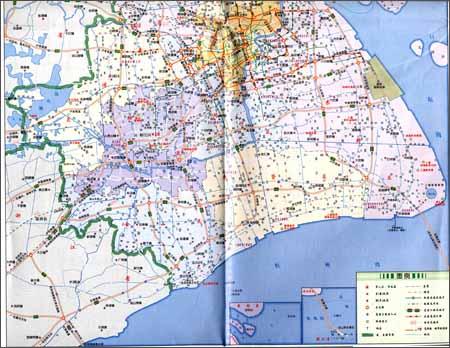 上海市道路图(2011)(公交观光购物)(附地图专用放大镜及市区公交线路