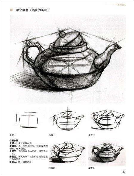 学院派基础美术新航线61素描教程:结构静物权威篇图片
