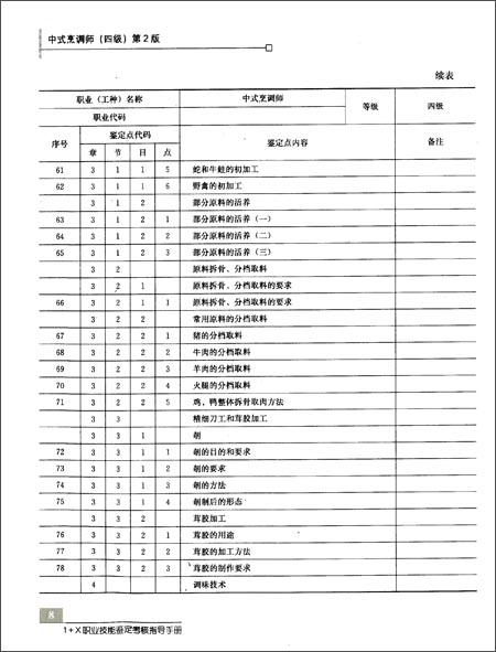 中式烹调师题库_中式烹调师(四级)第2版