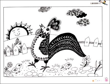 儿童画线描画