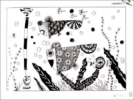 线描装饰画教案 线描人物教案_儿童画线描教案_线图片