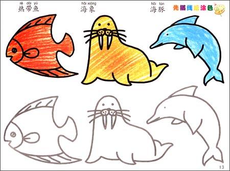 我的第一本涂色画:动物篇:亚马逊:图书