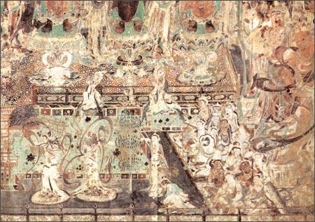 《中国古代壁画经典高清大图系列:敦煌莫高窟第220窟