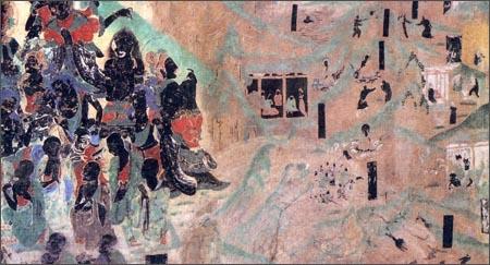 中国古代壁画经典高清大图系列:敦煌莫高窟第321窟·宝雨经变(初唐)