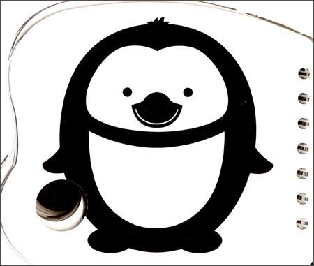 熊猫量子·0岁洞洞卡:黑白卡