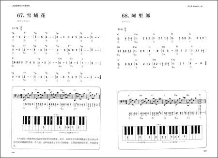 简谱钢琴即兴伴奏教程图片