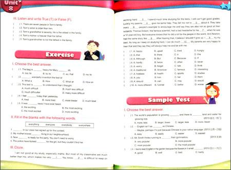 新概念英语中学v中学培训教材走向课程小学:题库答案数学精第二章名牌图片