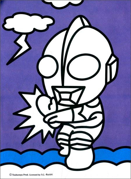 儿童画画图片奥特曼