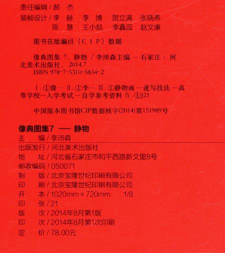 像典美术7:静物/李沛森/河北图集出版社/美术/高艺体生普通高中图片