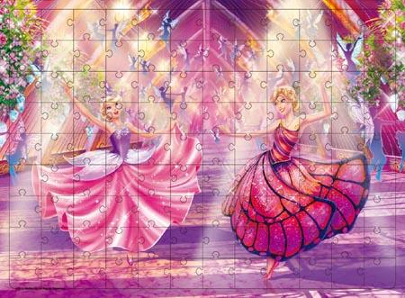 芭比公主电影大拼图:蝴蝶仙子和精灵公主