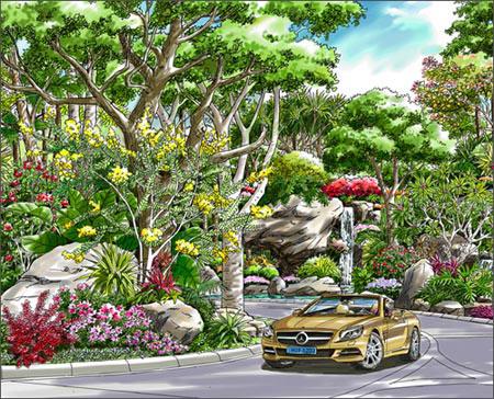 园林景观手绘的巅峰之作.