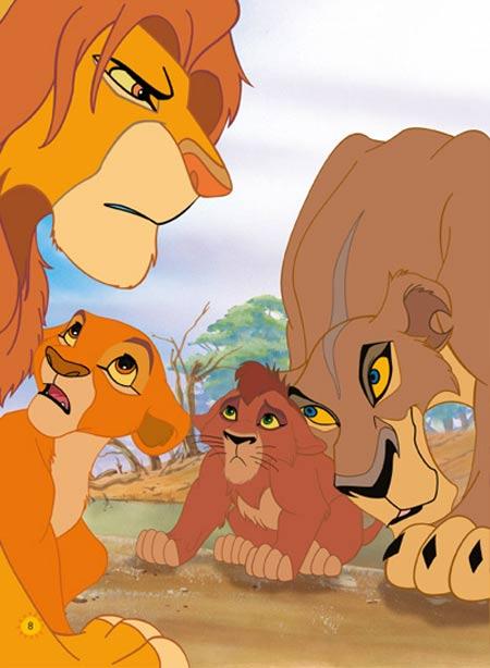 狮子正面头像卡通