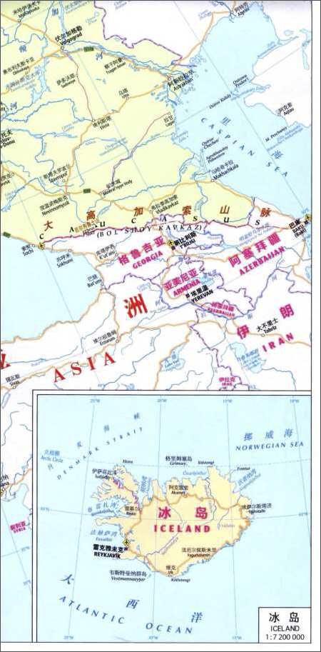2012新版目的地地图•洲际地图系列:欧洲知识地图