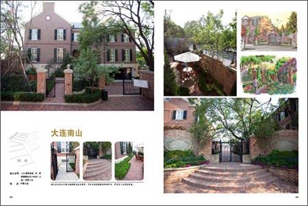 在花园入口,点缀传统中式花园里最为常见的景观石,松,竹,兰等元素