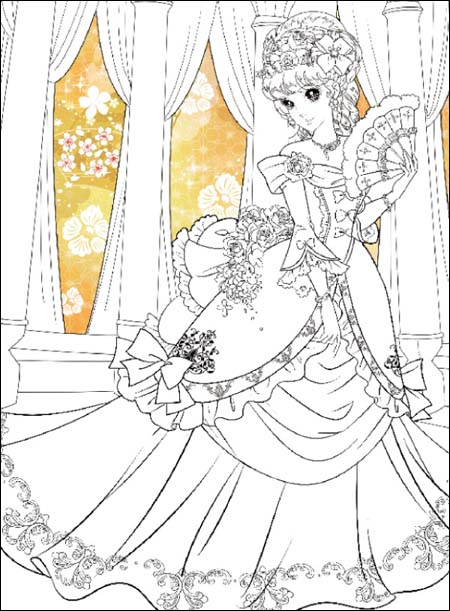 《小公主玩美涂画:优雅公主》图片
