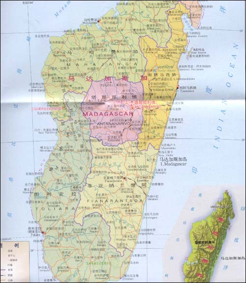 科摩罗群岛地图