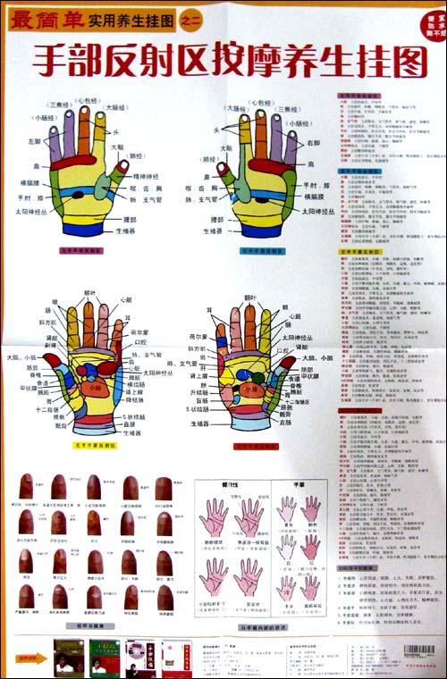 最简单实用养生挂图之2:手部反射区按摩养生挂图