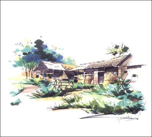 庐山手绘住宿环境