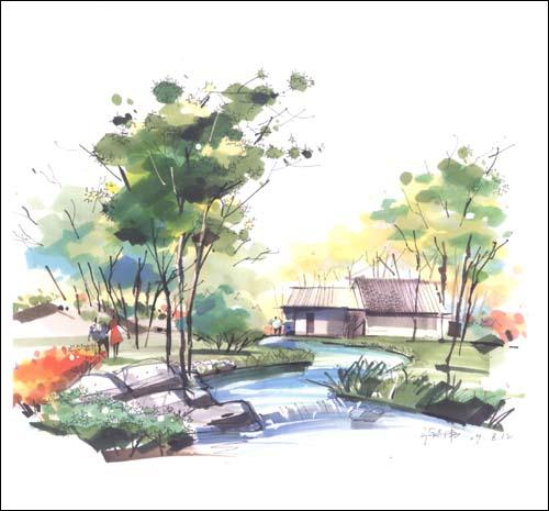 庐山手绘图片分享