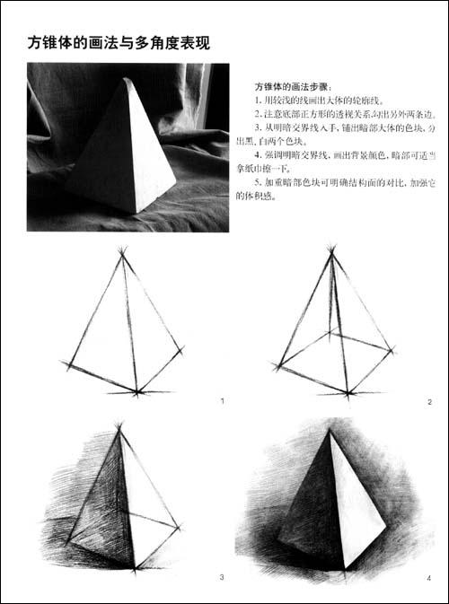 《单个静物的多角度表现61石膏几何体》