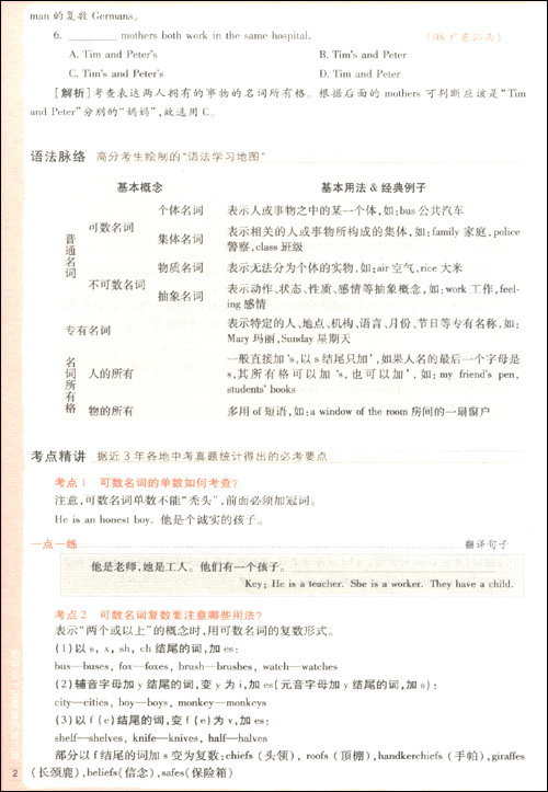 初中生一定要做的语法题:英语语法练习与测试全书
