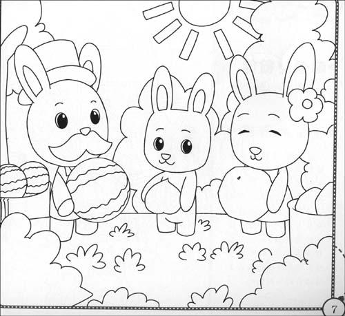 给儿童涂颜色的画