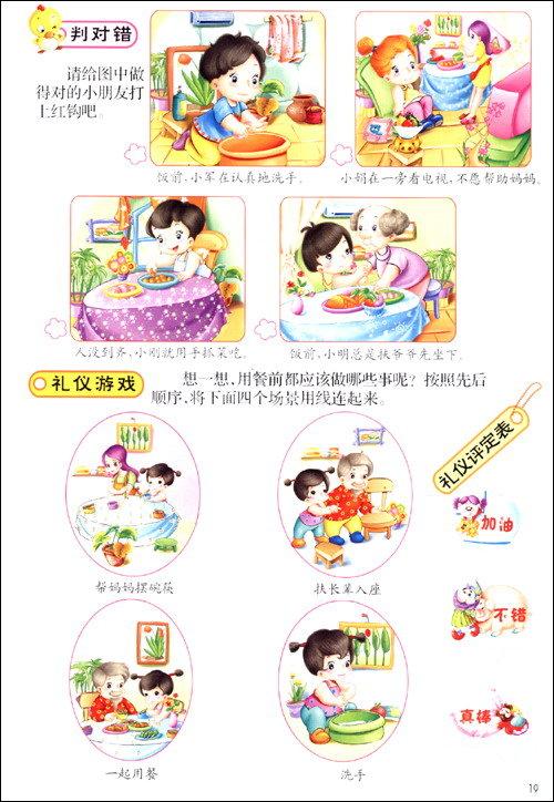 幼儿行为习惯的养成_文明好习惯绘画 - 7262图片网