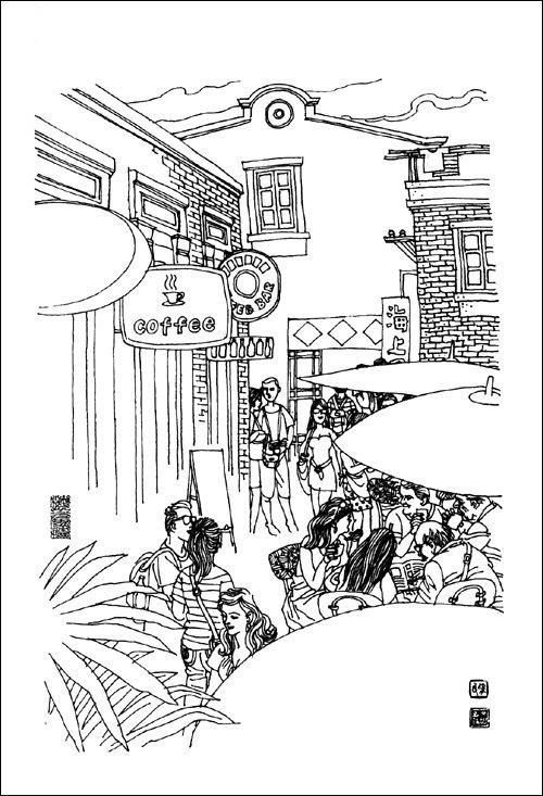 上海书店手绘地图