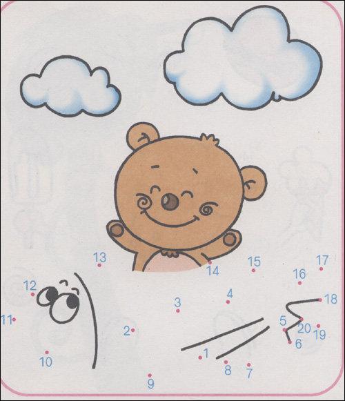 幼儿1到10数字连线画-小班数学教案连线成图,点连线画形状花,儿童数字图片
