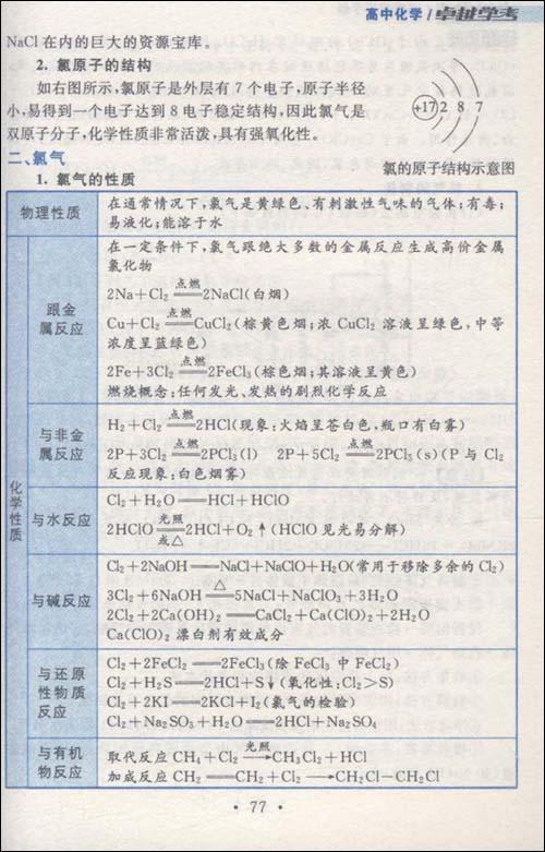高中化学巧学速记高中/卢银中手册辅仁钱军先图片