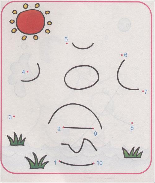 数字连线幼儿数字1 10连线画数字连线图图片