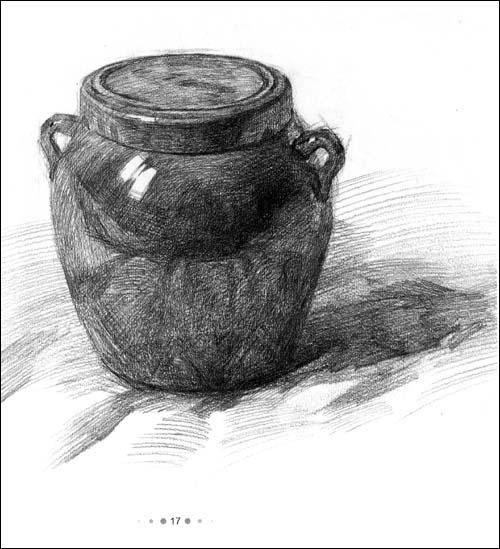 系列用书临摹 单个素描静物