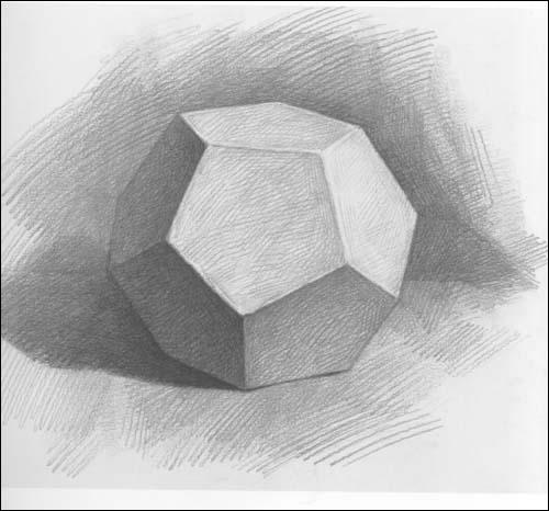 美术高考基础教学精品范画61石膏几何体:亚马逊:图