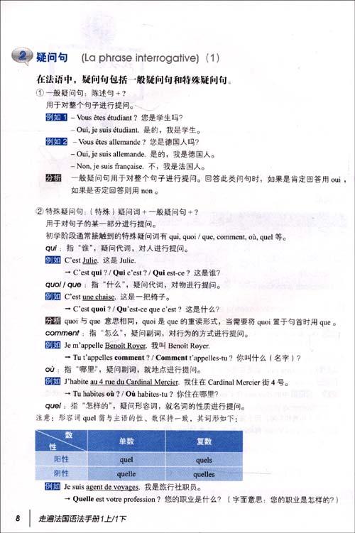 走遍法国语法手册