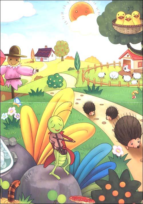 简单的儿童故事插画