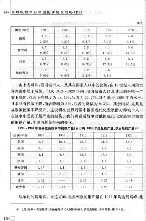全球视野中的中国国家安全战略