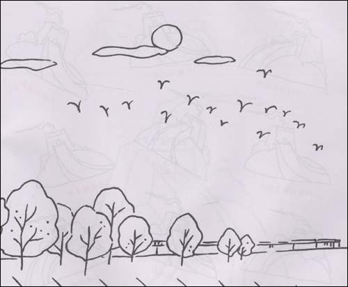 儿童多角度简笔画 建筑