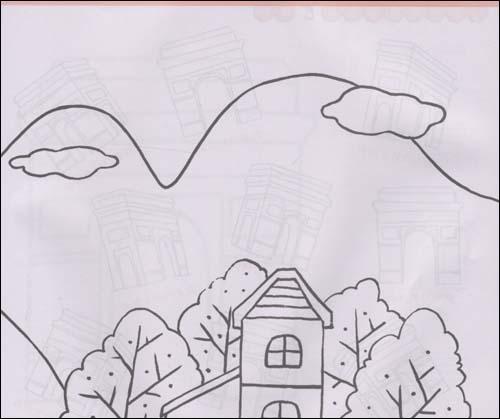 荷兰风车简笔画图片 风车简笔画 建筑简笔画 涂