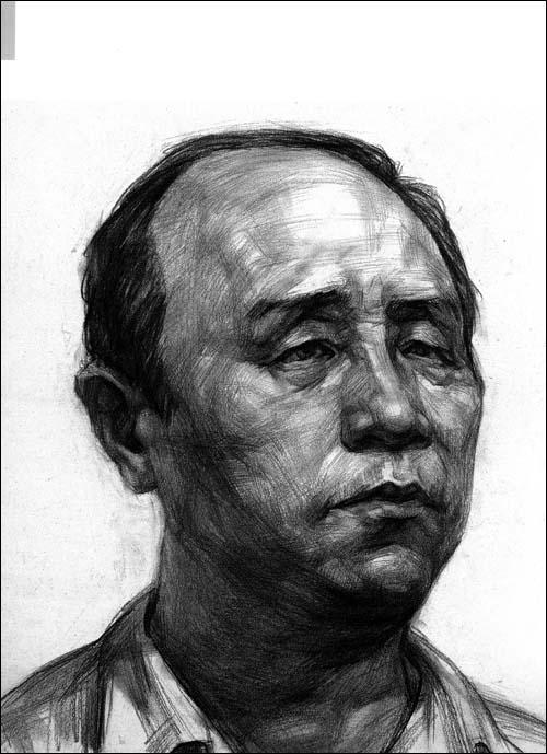 黑龙江联考素描头像(5)