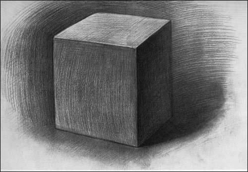 素描阶梯 石膏几何体写生
