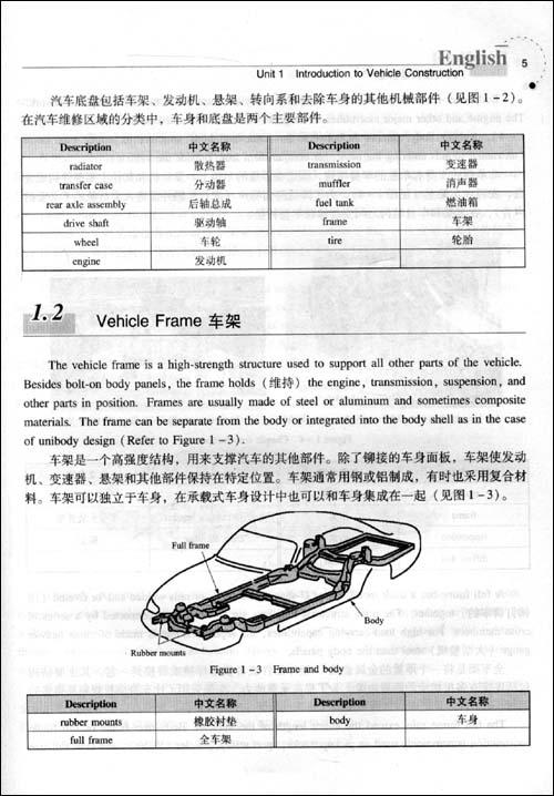 汽车专业英语教程 [平装]
