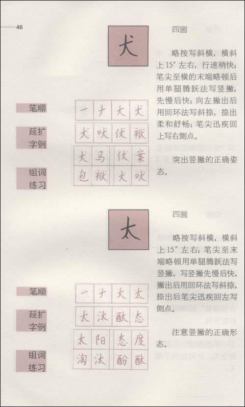 钱沛云800常用字硬笔楷书书写字典