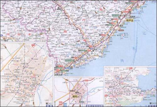 中国高速公路及城乡公路网地图集(便携详查版)(2011)