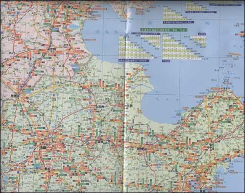 京天津河北山西山东公路交通旅游详图 2011 山东省地图出版社 图书