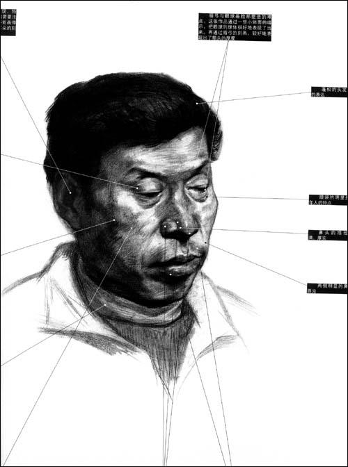 素描人物头发步骤图片展示