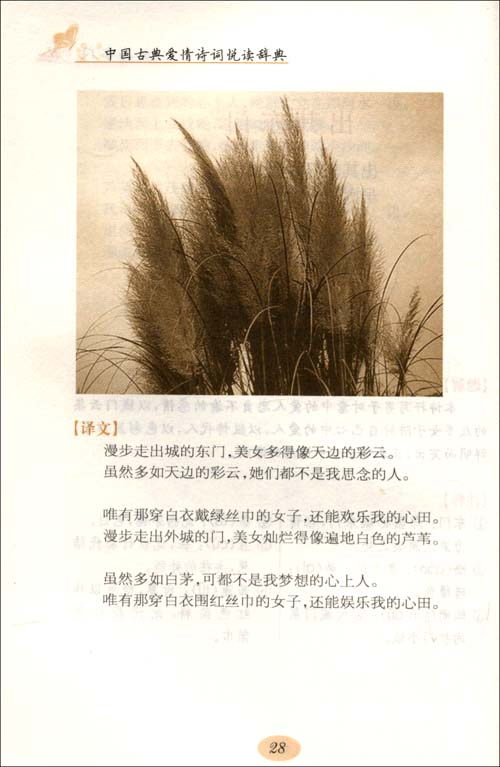 中国古典爱情诗词悦读辞典