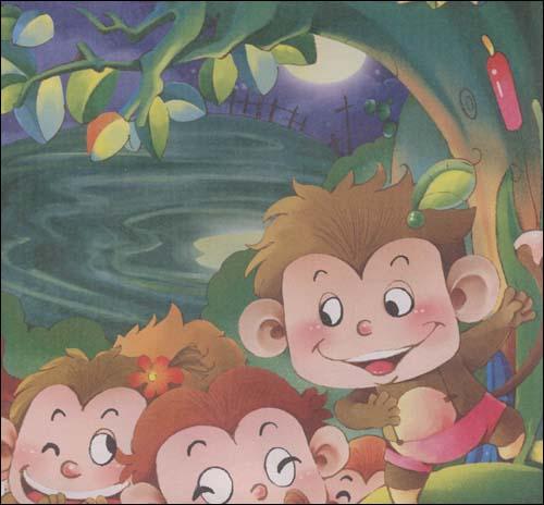 马头琴的传说  插图;  马头琴的传说  插图:; 猴子捞月的故事内容图片