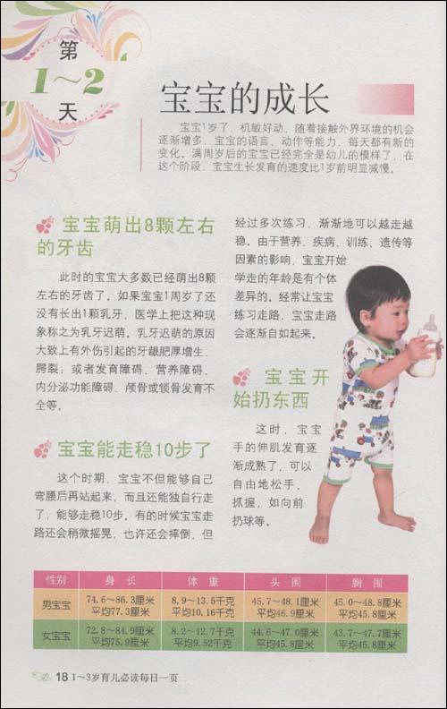 1-3岁育儿必读每日一页